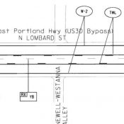 Lombard, a state freight route, will be restriped with bike lanes