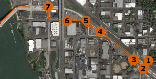 tilikum east side map with numbers