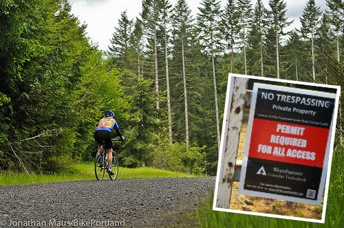 Weyerhaeuser enforcing gravel road permits amid confusion over