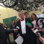 A congressman, ice-cream, fruitcake, and 1,000 bikes for kids