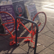 Here's what those orange bikes around Northeast Portland are all about