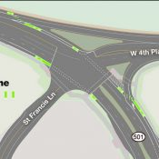 A first for Washington: Green paint for bike lanes on a state highway