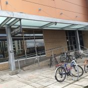 Bike parking exam: Planet Granite in the Pearl District