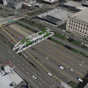 First look at city's plans for bike/walk bridge over I-405 at Flanders