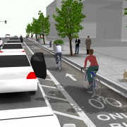 City proposes parking-protected bike lanes for Gateway retail district