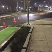 Activists use traffic cones to improve safety of bike lane along new Orange Line MAX