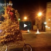 Wednesday Video Roundup: Christmas tallbike, the 'Boncho', and a wet Saltzman