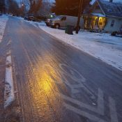 Overnight freeze leads to icy roads: Use caution until the thaw