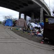 Steel Bridge homeless update, Jan 31