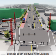Powell-Division Transit Project in-depth: Bike lanes and bus lanes both unlikely on 82nd