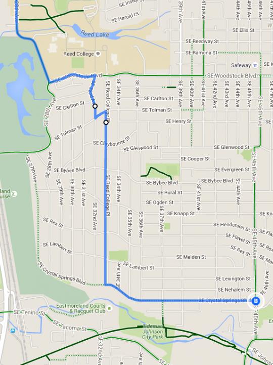 20s bikeway alternative route