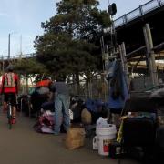 Steel Bridge homeless camp update, Feb 25