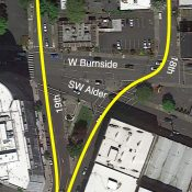 PBOT wants to make W Burnside at 18th/19th safer for biking and walking