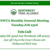NW Trail Alliance Monthly General Meeting