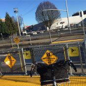 Activists (temporarily) take the swing out of TriMet's swing gates