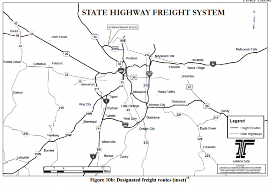 highway freight map