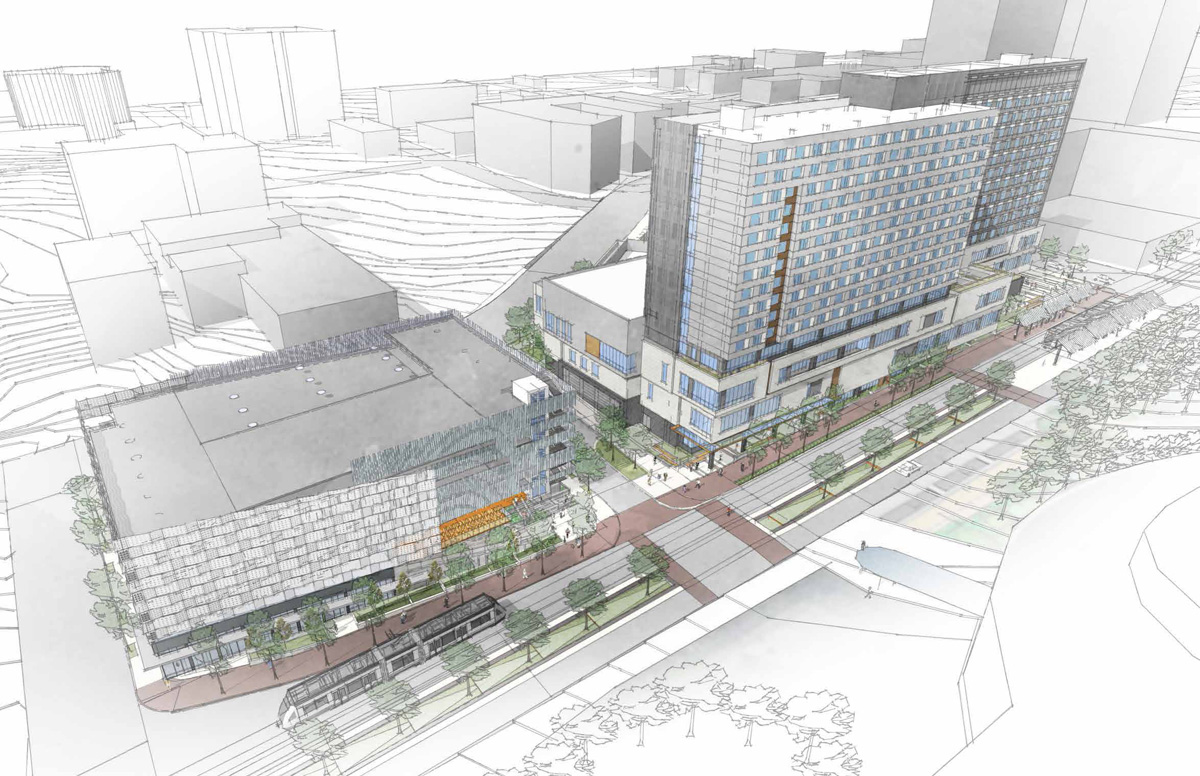 City wants taxpayers to finance 26 million hotel parking for Hotel plan design