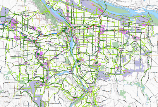 metro bike plan map