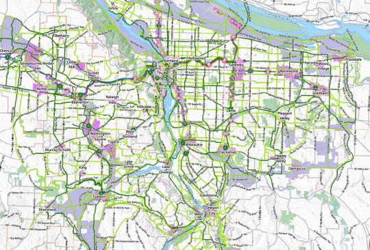 metro bike plan map