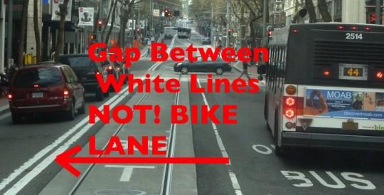 not bike lane
