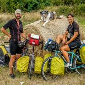 Portland couple quits jobs to cycle the world with their dog