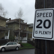 Portland 'Transformation' bureau unveils a new trick: '20 is Plenty' signs