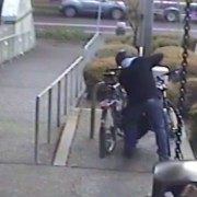 Video shows thief stealing bike from Red Cross while owner is inside giving blood