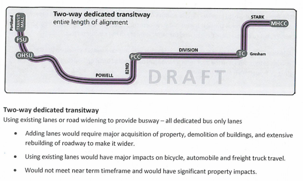 dedicated transitway