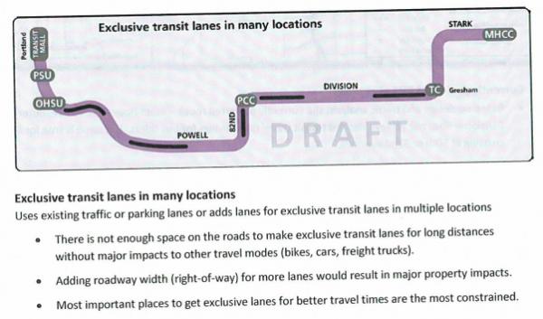 exclusive transit lanes