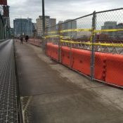 Repairs to Hawthorne Bridge railing follow damages from hit-and-run