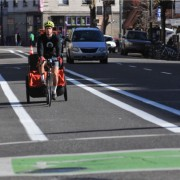 City restripes 3rd Avenue bike lanes one day after activists' cones appear