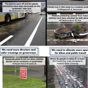 "BikeLoudPDX hits Active Transportation Summit with ""not-so-cool infrastructure"" flyer"