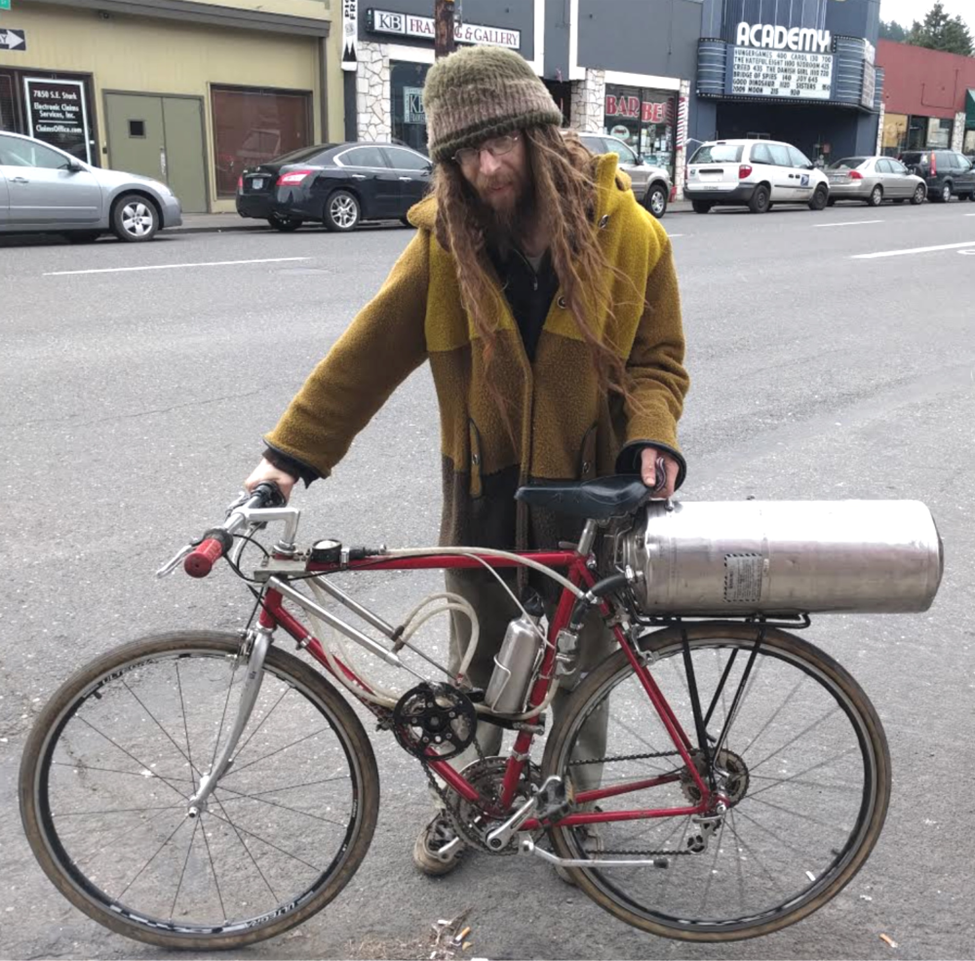 Cory Little S Air Powered Bike Is Turning Heads And Pedals Bikeportland Org