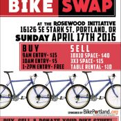 Get ready for the Portland Bike Swap on April 17th