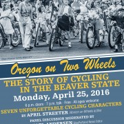 Join us Monday to learn about the history of Portland bicycling