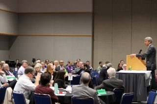Mayor R.T. Rybak challenged Portland-area leaders in an address at the Oregon Convention Center on April 22, 2016.(Photo: Metro)