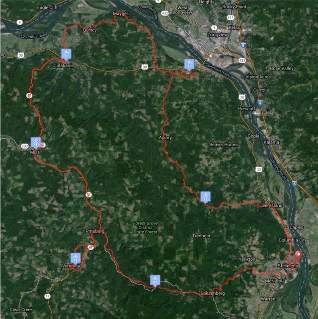 Columbia Century route