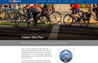 TriMet's new Bike Plan website.