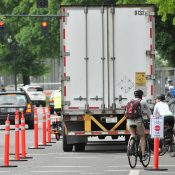 Better Naito organizers urge patience as lane gets used as loading zone