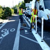 City debuts new 'Tuff Curb' to create physical separation for bikeways