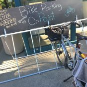 Dispatch from Better Broadway: More bike parking, better auto parking, a transit island video and more