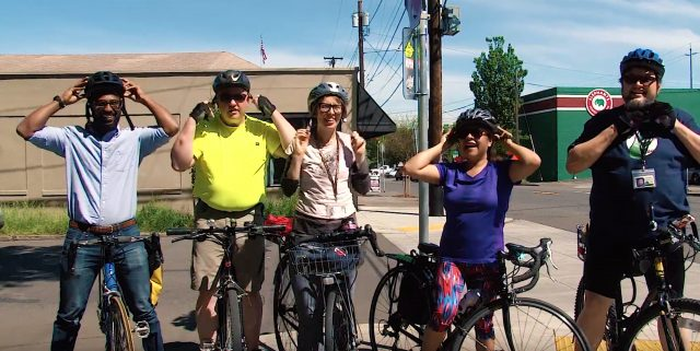 County employees getting ready to ride.(Photo: Still from County video)