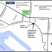 Detours and work zones coming to N Willamette Blvd for up to four months