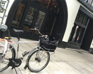 A new market in downtown Portland without bike parking out front? The horror!(Photo: J. Maus/BikePortland)