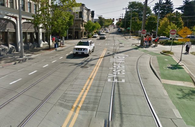 Streetview of E Yesler Way near 13th.