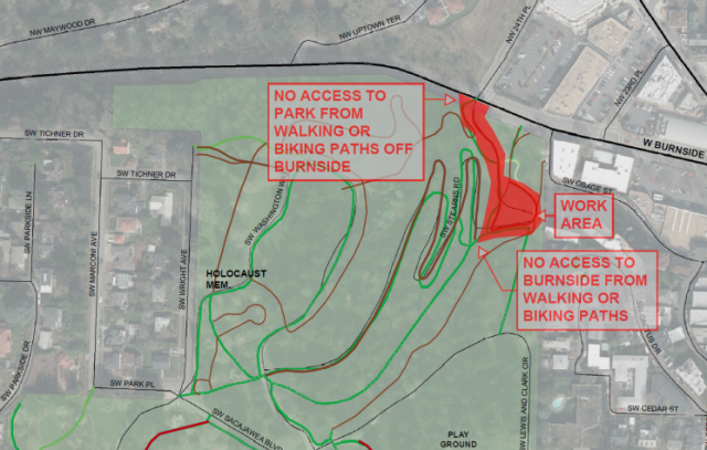 It will close tomorrow. But by the end of summer it should be much-improved.(Graphic: Portland Parks & Recreation)