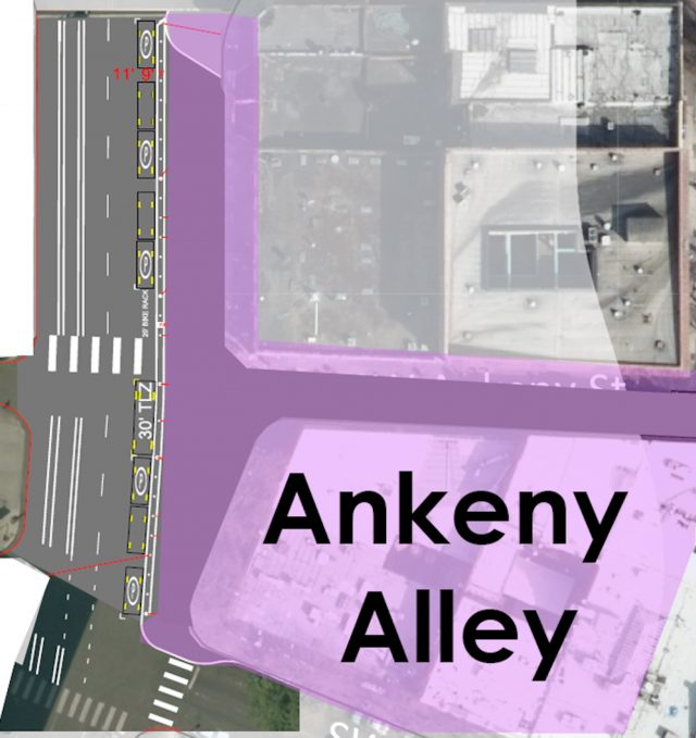 Design for plaza on 3rd and Ankeny.