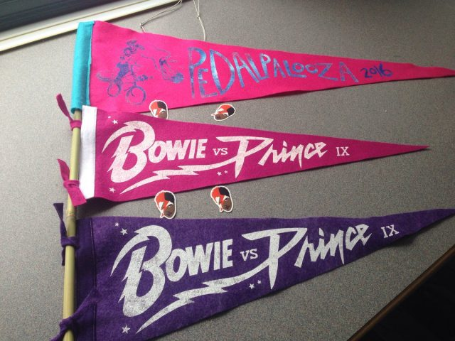 A limited number of souvenir pennants are available for purchase.