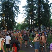 Body paint & costume highlights from the World Naked Bike Ride, plus a bonus video