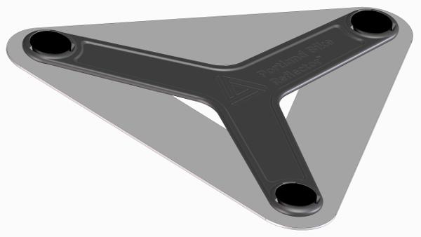 bike reflector gray